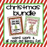 Christmas Bundle: Word Work and Elf Literacy and Math Fun!
