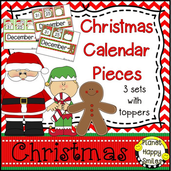 Christmas Activity ~ Calendar: Christmas ~ Number Order 1-