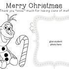 Christmas Card Coloring Sheet