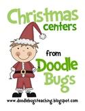 Christmas Centers: Math & Literacy Kindergarten First Seco