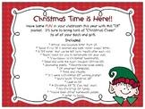"Christmas - ""Classroom Elf"" printables!"