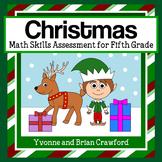 Christmas Common Core Math Skills Assessment (5th Grade)