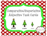 Christmas Comparative and Superlative Adjectives Task Cards