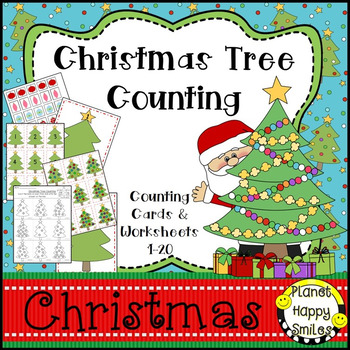 Christmas Activity ~ Christmas Tree Counting 1-20