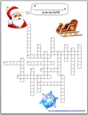 Christmas Crossword featuring YOUR Students' Names