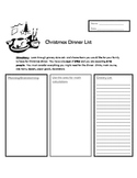 Christmas Dinner List- (A Math Activity for 4th-6th Graders)