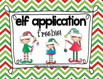 Christmas Elf Application Freebie!