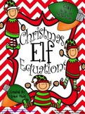 Christmas Math Activities ~ Christmas Elf Equations ~ Colo