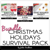 Christmas English Lessons for Teens, NO PREP Survival Pack
