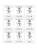 Christmas Factoring Playing Card - Must have in math this