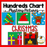 Christmas Math Hundreds Chart Mystery Pictures