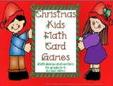 Christmas Kids Math Card Games Common Core State Standards K-2