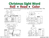 Christmas Kindergarten Mini Unit Sight Word Roll and Color