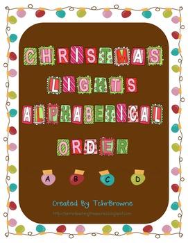 Christmas Light Alphabetical Order
