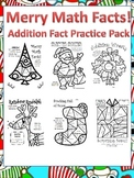 Christmas Math Fun! Addition Practice Color by Number Multi-Pack