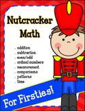 Christmas Math for 1st Grade with a Nutcracker theme