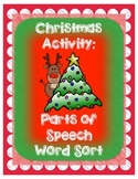 Christmas Parts of Speech Activity