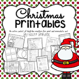 Christmas Printables: Black-line Masters for Immediate Cla