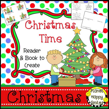 Christmas Activity ~ Christmas Time Reader and Book