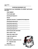 Christmas Scavenger Hunt, fun activity, game