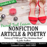 Christmas Shoes Poetry & Nonfiction Lesson with Project &
