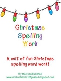 Christmas Spelling Word Work and Activities for Upper Elementary