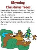 Christmas Tree Rhyming Game and Phonemic Awareness Literac