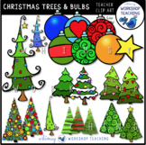 Christmas Trees and Ornaments Clip Art - Whimsy Workshop Teaching