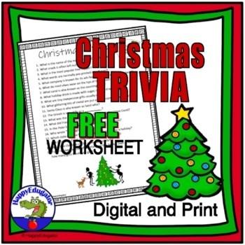 Christmas Trivia Sheet