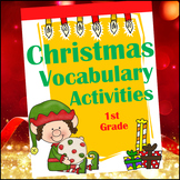 Christmas Vocabulary Activities for 1st Grade