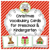 Christmas Vocabulary Cards for Preschool and Kindergarten
