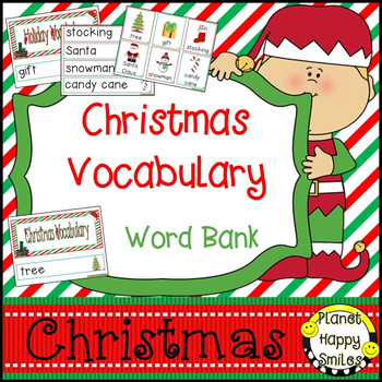 Christmas Vocabulary Cards ~ Word Bank