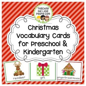 Christmas Vocabulary Cards Image