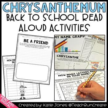 Chrysanthemum {Back to School Read Aloud Activities and Pr