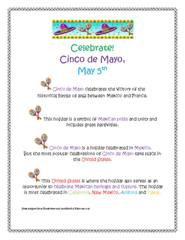 Cinco de Mayo Activity Set