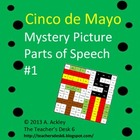 Cinco de Mayo Mystery Picture Parts of Speech #1