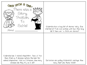 Cinderella Story Problems Minibook {freebie!}