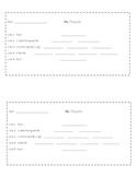Cinquain poem template (2 per page)