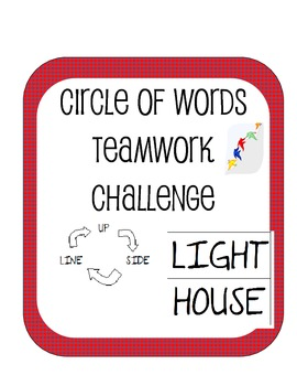 Circle Of Words Teamwork Challenge Cooperative Learning Communication Activity