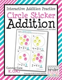 Circle Sticker Addition - Interactive Addition Practice