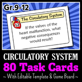 Circulatory System - Task Cards with Game Board {Editable