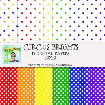 Circus Brights Digital Papers