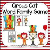 Circus Cat Word Family Game