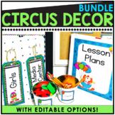 Circus Themed Editable Classroom Pack