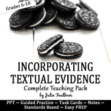 Cite Textual Evidence Complete Teaching Pack, Lesson, PPT,