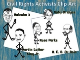Civil Rights Activist Clip Art