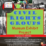 Civil Rights Groups – Museum Exhibit Project  (U.S History)