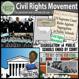 Civil Rights Movement Clip Art with MLK Jr, Malcolm X {Mes