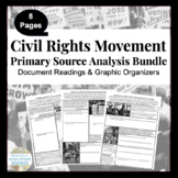 Civil Rights Movement Primary Source Analysis Bundled Set