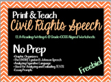 Civil Rights Speech (PARCC Questions)